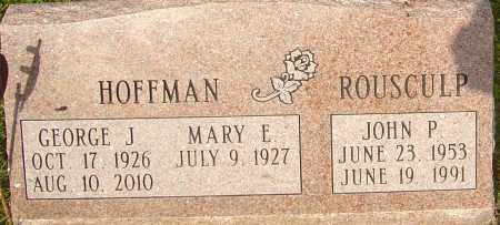 HOFFMAN, GEORGE - Franklin County, Ohio | GEORGE HOFFMAN - Ohio Gravestone Photos