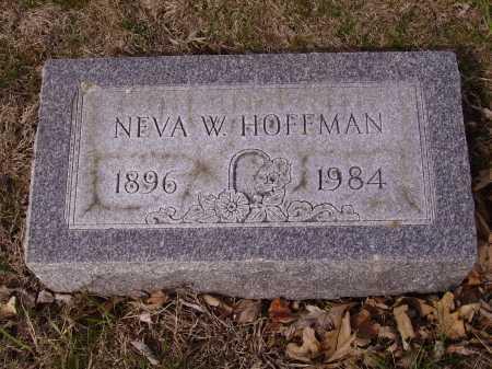 HOFFMAN, NEVA W. - Franklin County, Ohio   NEVA W. HOFFMAN - Ohio Gravestone Photos