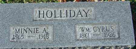 HOLLIDAY, MINNIE A - Franklin County, Ohio | MINNIE A HOLLIDAY - Ohio Gravestone Photos
