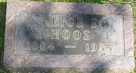 HOOS, ALICE E - Franklin County, Ohio | ALICE E HOOS - Ohio Gravestone Photos