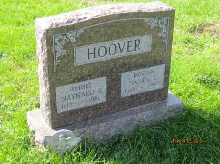 HOOVER, MAYNARD E - Franklin County, Ohio | MAYNARD E HOOVER - Ohio Gravestone Photos