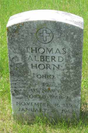 HORN, THOMAS ALBERD - Franklin County, Ohio | THOMAS ALBERD HORN - Ohio Gravestone Photos