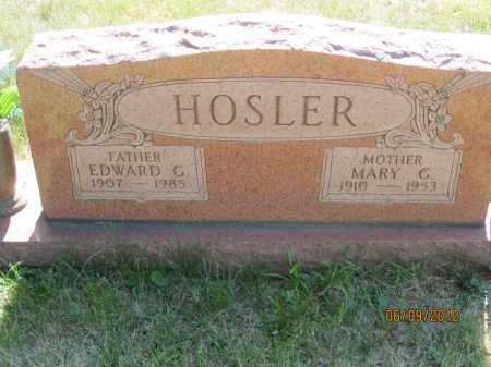 WOLFE HOSLER, MARY GERTRUDE - Franklin County, Ohio | MARY GERTRUDE WOLFE HOSLER - Ohio Gravestone Photos