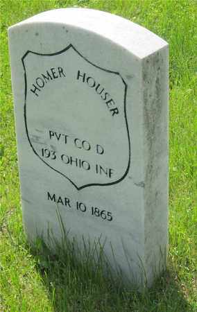 HOUSER, HOMER - Franklin County, Ohio | HOMER HOUSER - Ohio Gravestone Photos