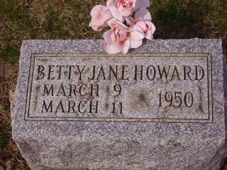 HOWARD, BETTY JANE - Franklin County, Ohio | BETTY JANE HOWARD - Ohio Gravestone Photos