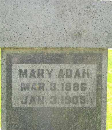 HOWELL, MARY ADAH - Franklin County, Ohio   MARY ADAH HOWELL - Ohio Gravestone Photos