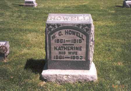 HOWELL, KATHERINE - Franklin County, Ohio | KATHERINE HOWELL - Ohio Gravestone Photos
