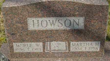 HOWSON, MERLE W - Franklin County, Ohio | MERLE W HOWSON - Ohio Gravestone Photos