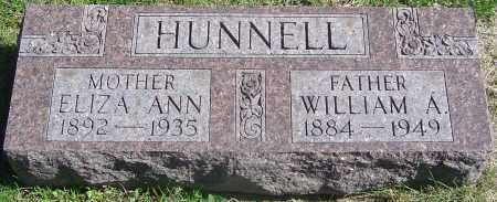 HUNNELL, WILLIAM ALBERT - Franklin County, Ohio | WILLIAM ALBERT HUNNELL - Ohio Gravestone Photos
