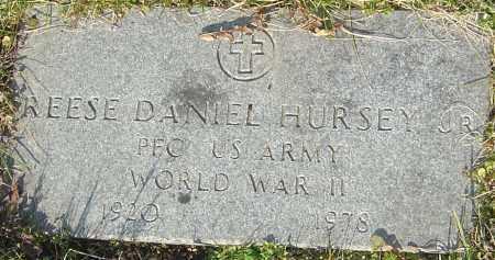 HURSEY, REESE DANIEL - Franklin County, Ohio   REESE DANIEL HURSEY - Ohio Gravestone Photos