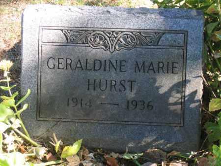 HURST, GERALDINE - Franklin County, Ohio | GERALDINE HURST - Ohio Gravestone Photos