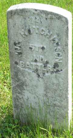 HUTCHINSON, JNO. - Franklin County, Ohio   JNO. HUTCHINSON - Ohio Gravestone Photos