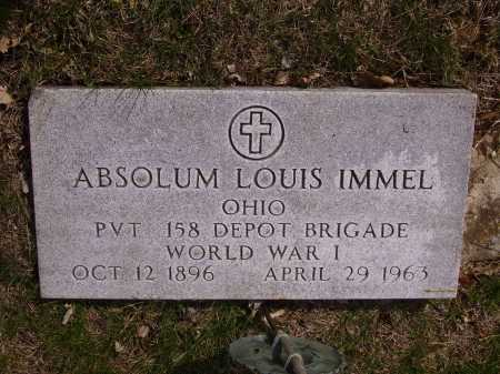 IMMEL, ABSOLUM LOUIS - MILITARY - Franklin County, Ohio | ABSOLUM LOUIS - MILITARY IMMEL - Ohio Gravestone Photos