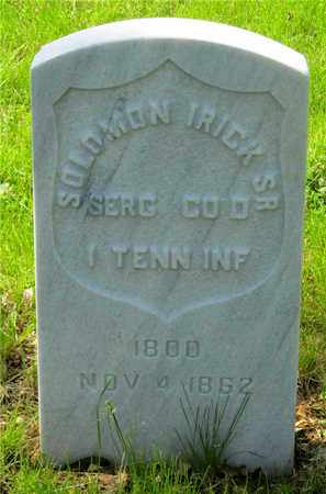 IRICK, SOLOMON - Franklin County, Ohio   SOLOMON IRICK - Ohio Gravestone Photos