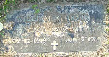 IRVIN, WILLIAM C - Franklin County, Ohio | WILLIAM C IRVIN - Ohio Gravestone Photos