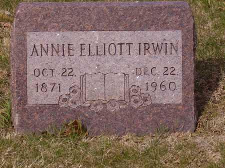 ELLIOTT IRWIN, ANNIE - Franklin County, Ohio | ANNIE ELLIOTT IRWIN - Ohio Gravestone Photos
