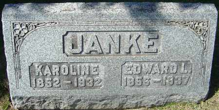 JANKE, KAROLINE - Franklin County, Ohio | KAROLINE JANKE - Ohio Gravestone Photos