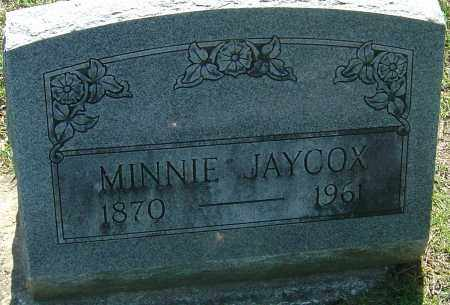WESTENHAVER JAYCOX, IDA MINNIE - Franklin County, Ohio | IDA MINNIE WESTENHAVER JAYCOX - Ohio Gravestone Photos