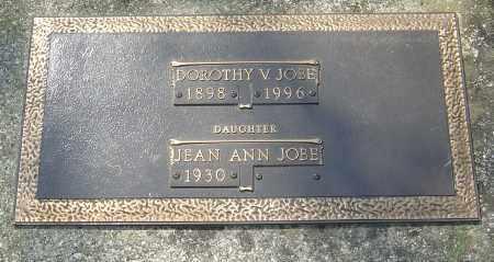 JOBE, DOROTHY V - Franklin County, Ohio | DOROTHY V JOBE - Ohio Gravestone Photos