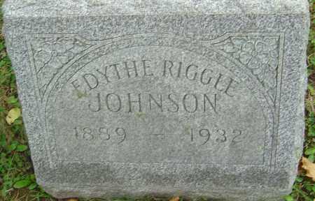 RIGGLE JOHNSON, EDYTHE - Franklin County, Ohio | EDYTHE RIGGLE JOHNSON - Ohio Gravestone Photos