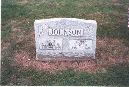 JOHNSON, GEORGE W. - Franklin County, Ohio | GEORGE W. JOHNSON - Ohio Gravestone Photos
