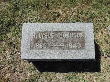 JOHNSON, H. LYSLE - Franklin County, Ohio   H. LYSLE JOHNSON - Ohio Gravestone Photos