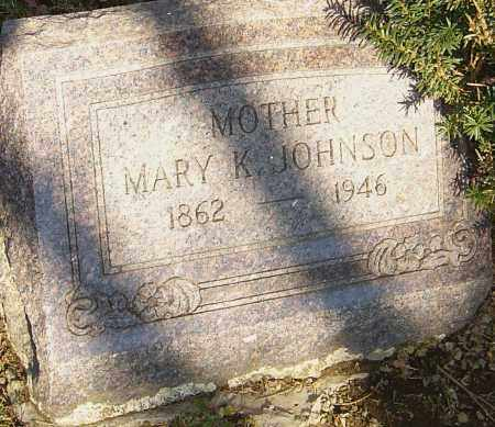 JOHNSON, MARY K - Franklin County, Ohio | MARY K JOHNSON - Ohio Gravestone Photos