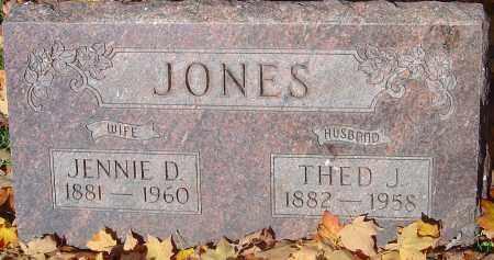 JONES, JENNIE D - Franklin County, Ohio   JENNIE D JONES - Ohio Gravestone Photos