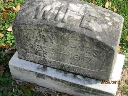 JONES, MARY - Franklin County, Ohio | MARY JONES - Ohio Gravestone Photos