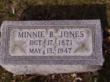 JONES, MINNIE B. - Franklin County, Ohio   MINNIE B. JONES - Ohio Gravestone Photos