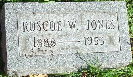 JONES, ROSCOE W - Franklin County, Ohio   ROSCOE W JONES - Ohio Gravestone Photos