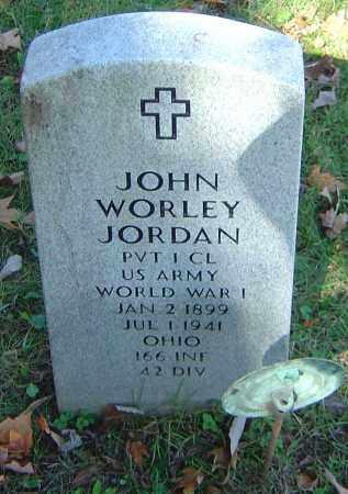 JORDAN, JOHN WORLEY - Franklin County, Ohio   JOHN WORLEY JORDAN - Ohio Gravestone Photos
