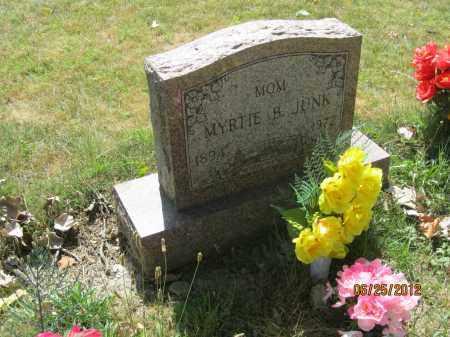 MASON JUNK, MYRTIE B - Franklin County, Ohio   MYRTIE B MASON JUNK - Ohio Gravestone Photos