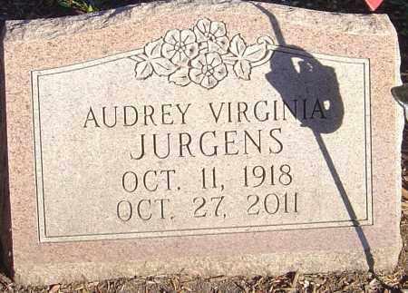 JURGENS, AUDREY VIRGINIA - Franklin County, Ohio   AUDREY VIRGINIA JURGENS - Ohio Gravestone Photos