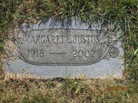 JUSTUS, MARGARET L - Franklin County, Ohio | MARGARET L JUSTUS - Ohio Gravestone Photos