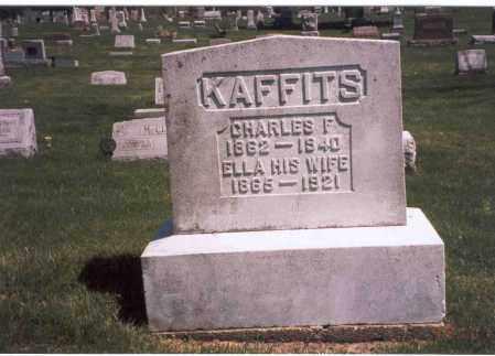 KAFFITS, CHARLES F - Franklin County, Ohio | CHARLES F KAFFITS - Ohio Gravestone Photos
