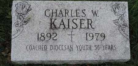KAISER, CHARLES W - Franklin County, Ohio   CHARLES W KAISER - Ohio Gravestone Photos