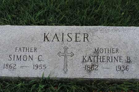 KAISER, KATHERINE B - Franklin County, Ohio | KATHERINE B KAISER - Ohio Gravestone Photos