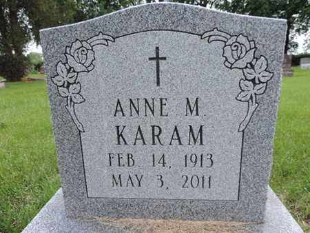 KARAM, ANNE M. - Franklin County, Ohio | ANNE M. KARAM - Ohio Gravestone Photos