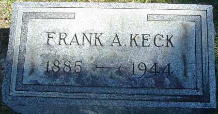 KECK, FRANK A - Franklin County, Ohio | FRANK A KECK - Ohio Gravestone Photos