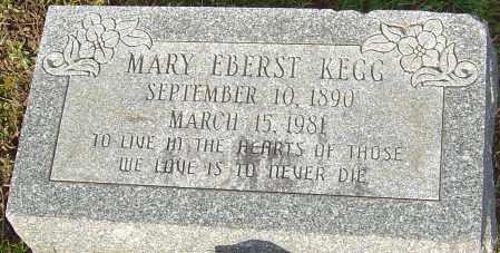 EBERST KEGG, MARY - Franklin County, Ohio | MARY EBERST KEGG - Ohio Gravestone Photos