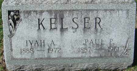 KELSER, IVAH A - Franklin County, Ohio | IVAH A KELSER - Ohio Gravestone Photos