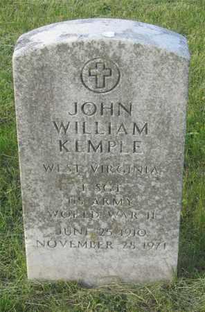 KEMPLE, JOHN WILLIAM - Franklin County, Ohio | JOHN WILLIAM KEMPLE - Ohio Gravestone Photos