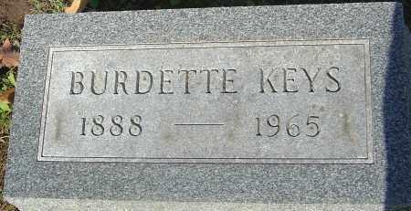 KEYS, BURDETTE - Franklin County, Ohio   BURDETTE KEYS - Ohio Gravestone Photos