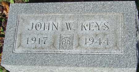 KEYS, JOHN W - Franklin County, Ohio | JOHN W KEYS - Ohio Gravestone Photos