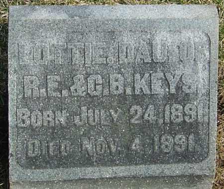 KEYS, LOTTIE - Franklin County, Ohio | LOTTIE KEYS - Ohio Gravestone Photos