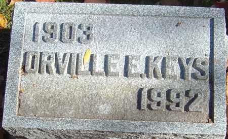 KEYS, ORVILLE E - Franklin County, Ohio | ORVILLE E KEYS - Ohio Gravestone Photos