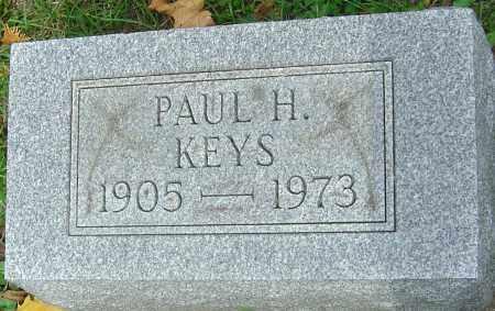 KEYS, PAUL H - Franklin County, Ohio   PAUL H KEYS - Ohio Gravestone Photos