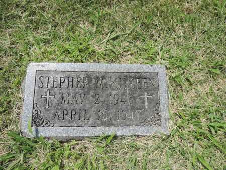 KILLEEN, STEPHEN M. - Franklin County, Ohio | STEPHEN M. KILLEEN - Ohio Gravestone Photos
