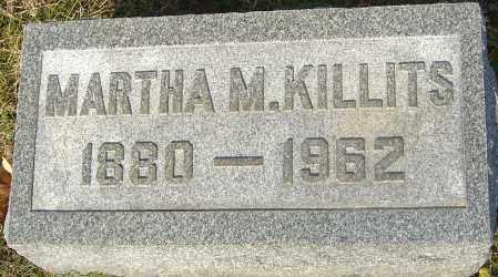 KILLITS, MARTHA M - Franklin County, Ohio | MARTHA M KILLITS - Ohio Gravestone Photos